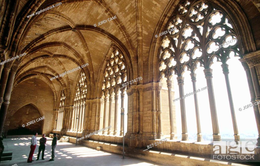 Stock Photo: Cloister in 'La Seu Vella' (13th century). Lleida. Catalonia. Spain.