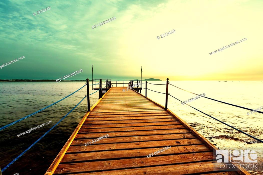 Stock Photo: Boardwalk on beach.
