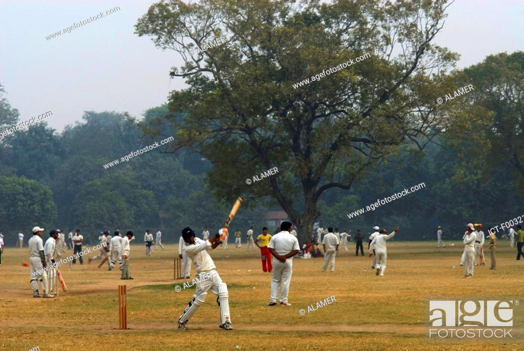 Stock Photo: India, New Delhi, base ball.