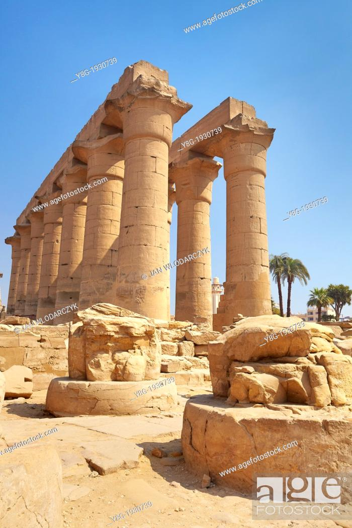 Stock Photo: Luxor, Egypt - ancient ruins in the Luxor Temple of Amun, Upper Egypt.