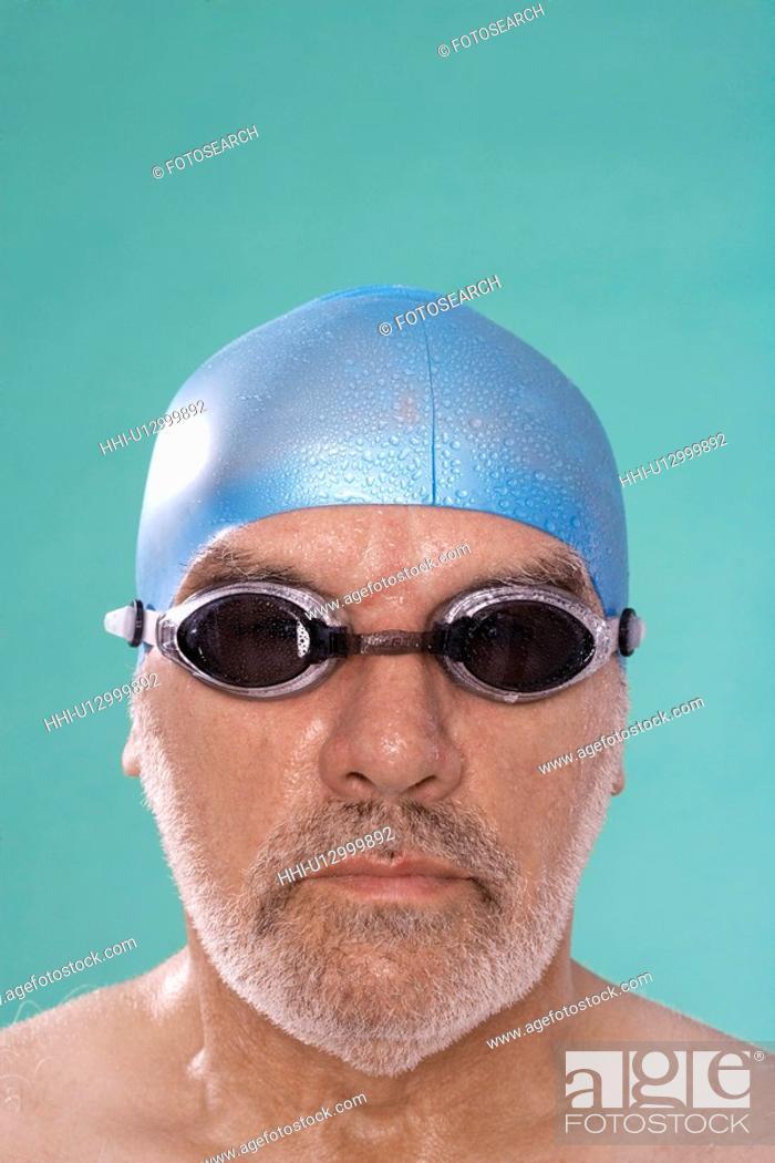 Stock Photo: Senior male swimmer.
