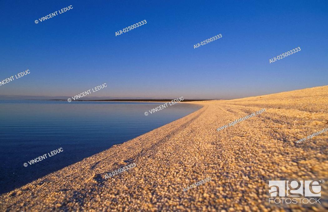 Stock Photo: West - Shark Bay - Shell Beach.