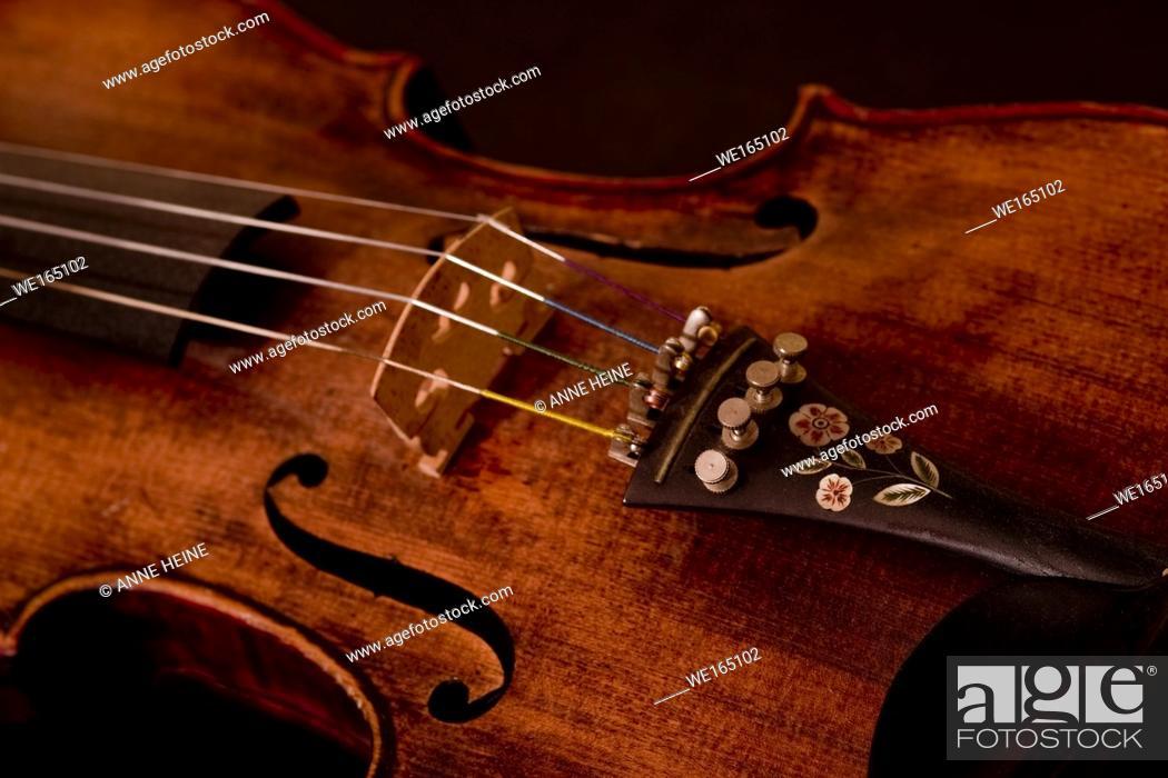 Stock Photo: Part of violin.