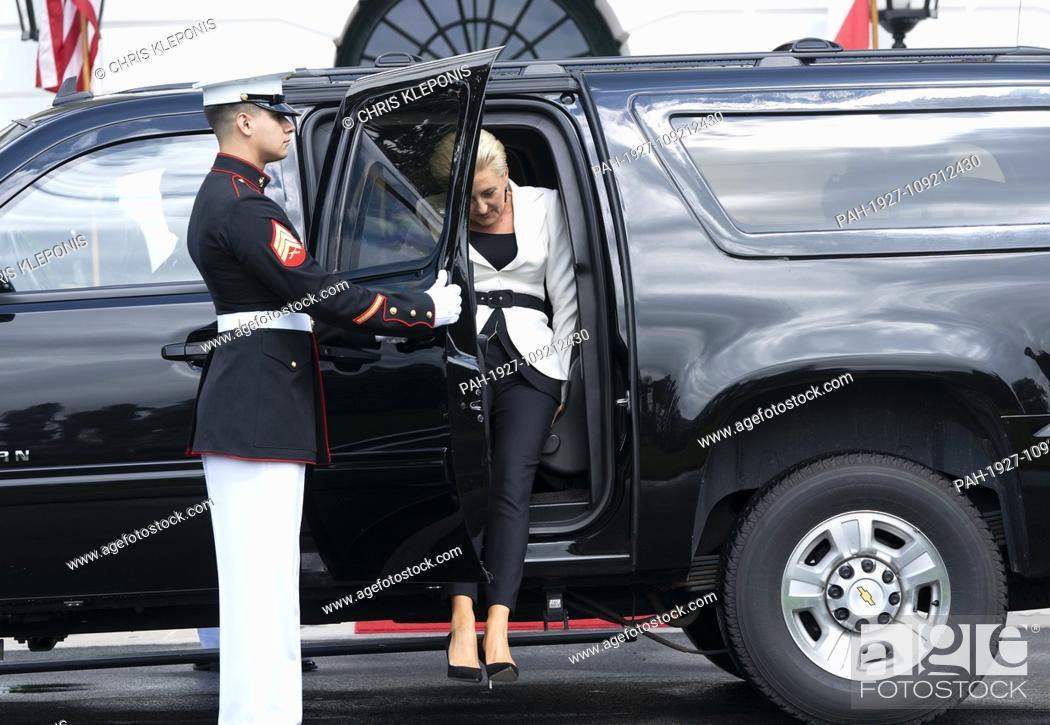 Stock Photo: Mrs. Agata Kornhauser-Duda the spouse of the President of the Republic of Poland Andrzej Duda arrives at The White House in Washington, DC, September 18, 2018.
