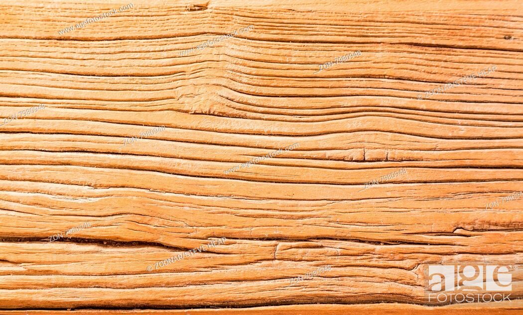 Stock Photo: Detailed background abstract image of the aging wood of a rustic table in macro closeup.