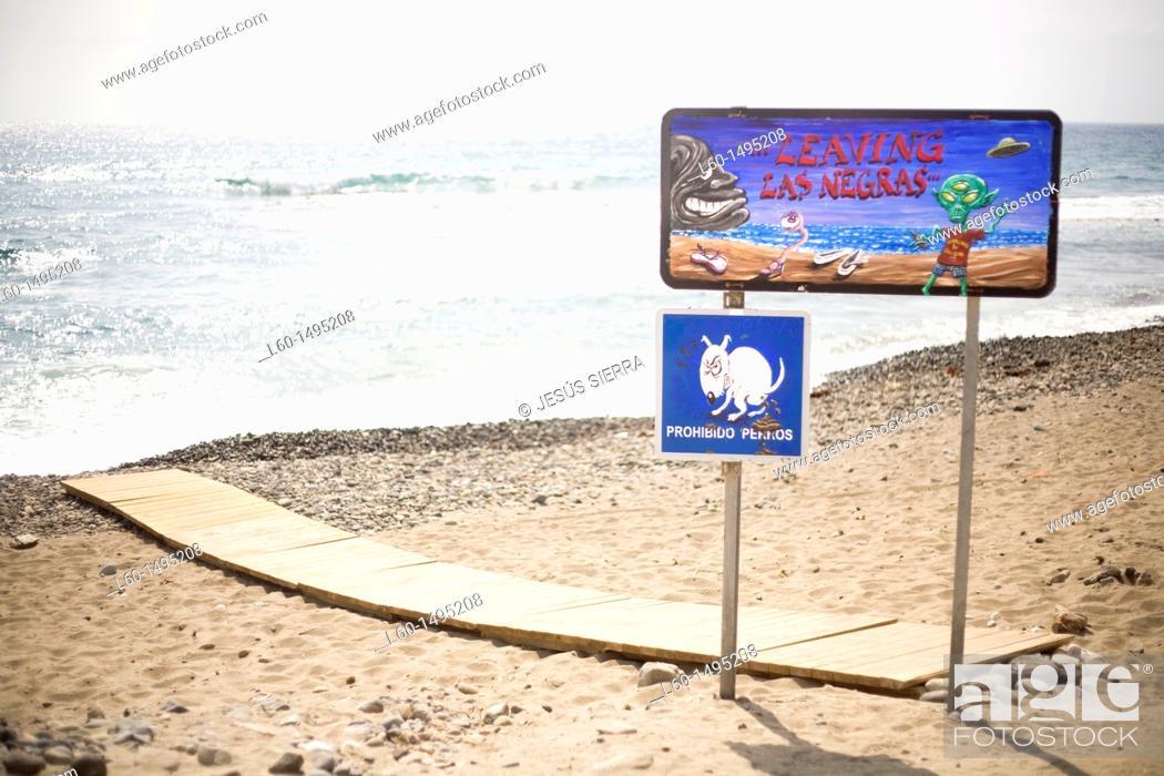 Stock Photo: Las Negras, Cabo de Gata, Spain.