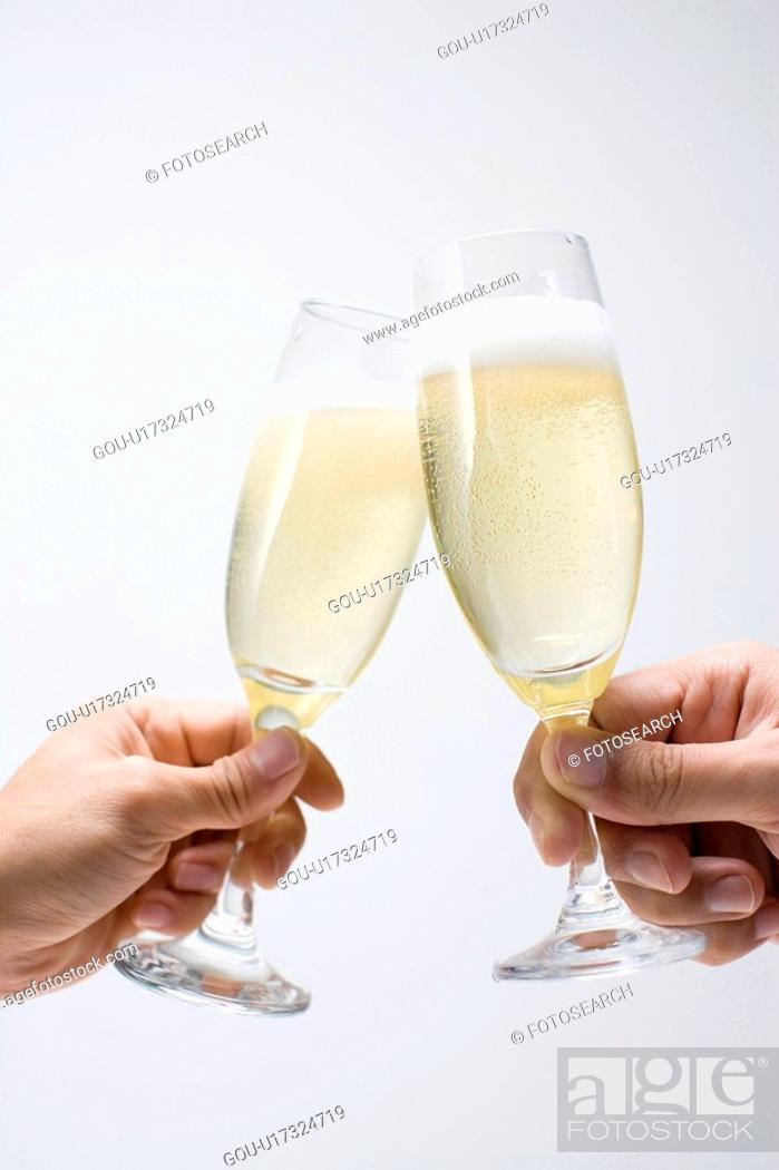 Stock Photo: Champagne and wine.