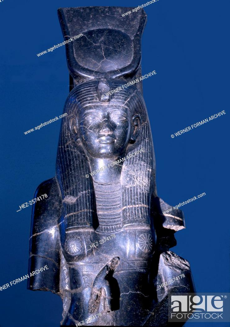 Statue Of The Goddess Isis One Of The Several Commissioned By