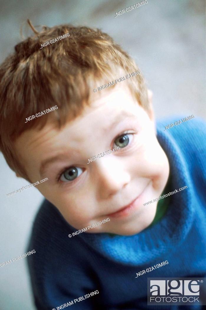 Stock Photo: Young Boy Looking Up.
