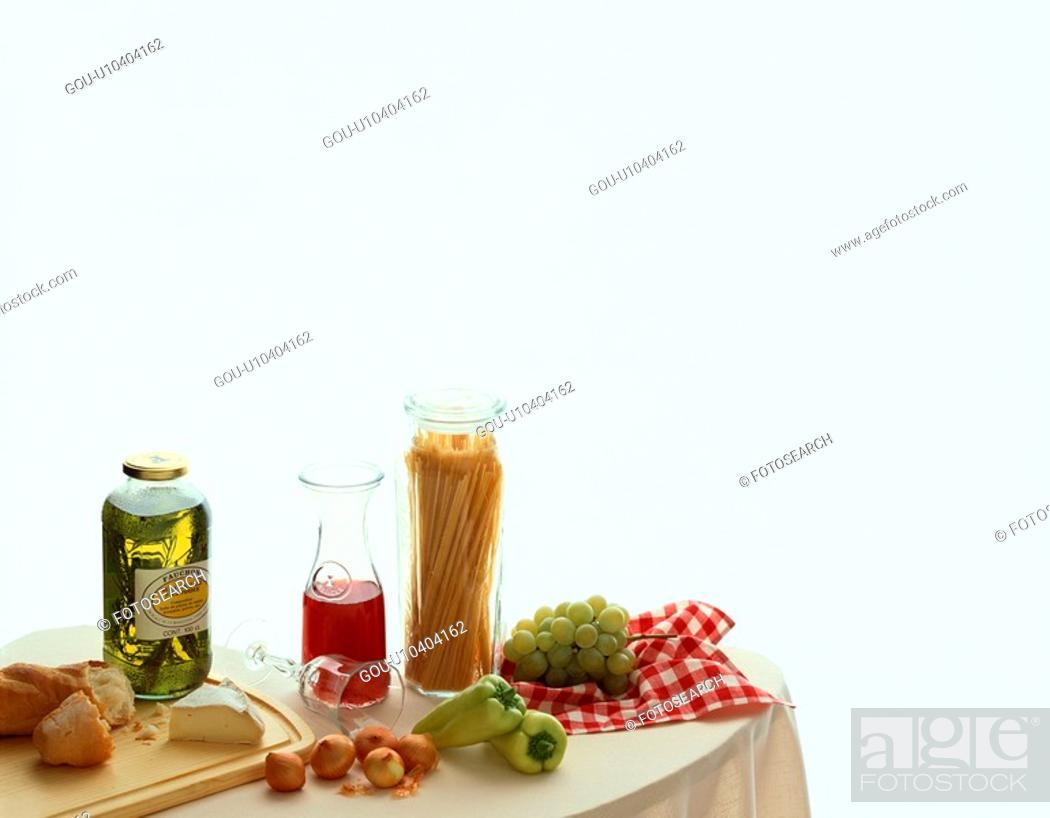 Stock Photo: Pasta Ingredients.