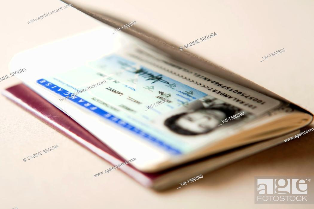 Stock Photo: French Identity card.