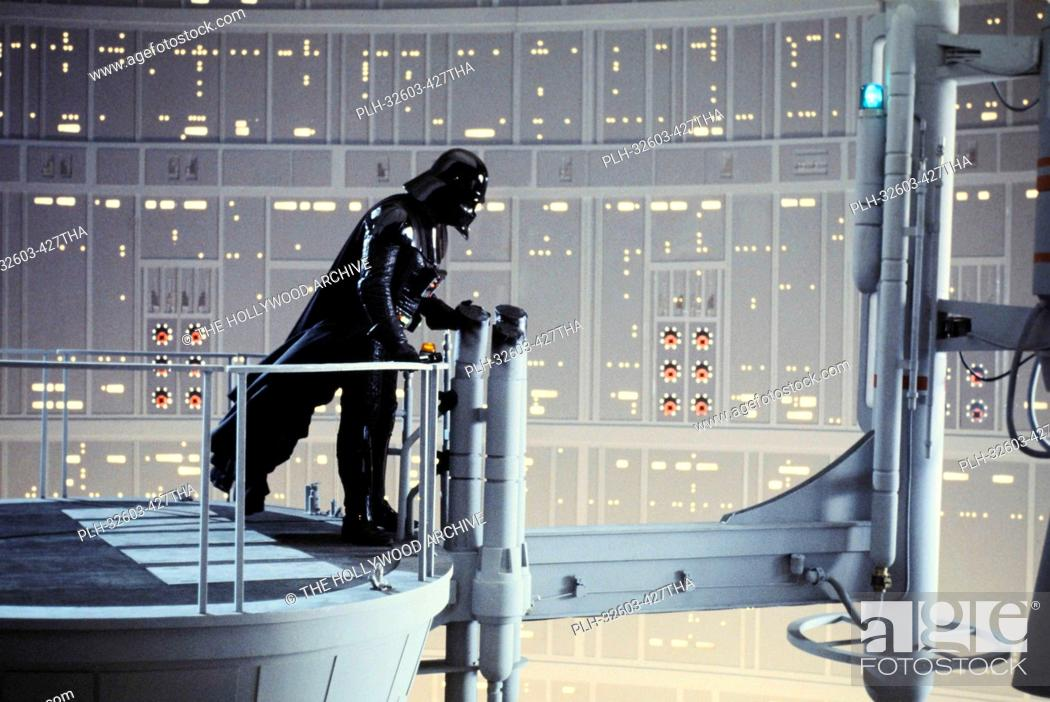 Stock Photo: David Prowse as Darth Vader on the Cloud City Reactor set in Star Wars Episode V: The Empire Strikes Back (1980).