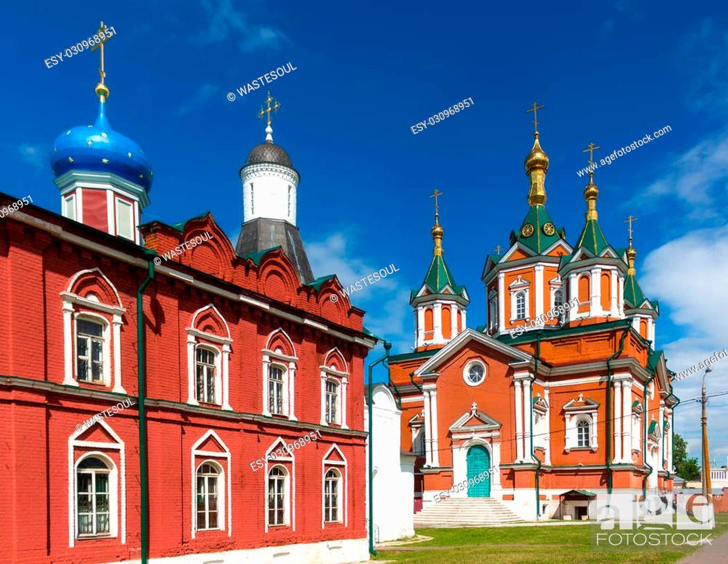 Stock Photo: Cathedral of the Exaltation of the Holy Cross in Kolomna Kremlin, Russia.