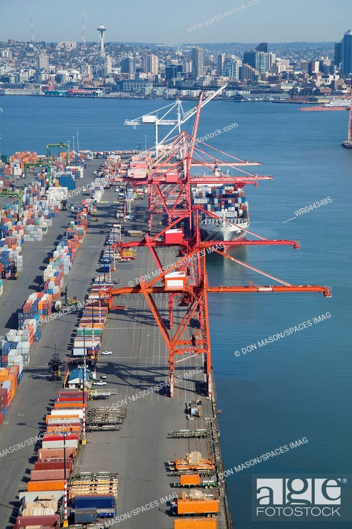 Imagen: Cranes at the Port of Seattle.