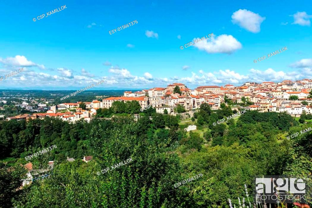 Stock Photo: City of Thiers, department of Puy-de-Dome (France).