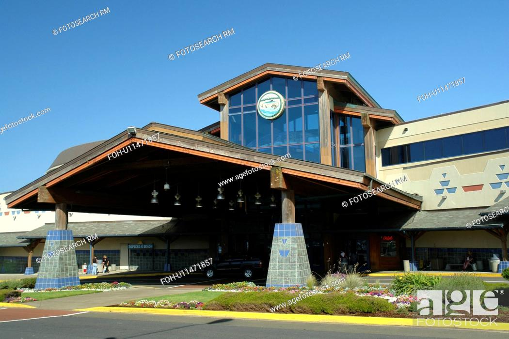 Stock Photo: Lincoln Bay, OR, Oregon, Pacific Ocean, Pacific Coast Scenic Byway, Rt Route, Highway 101, Chinook Winds Casino & Convention Center, popular oceanside.