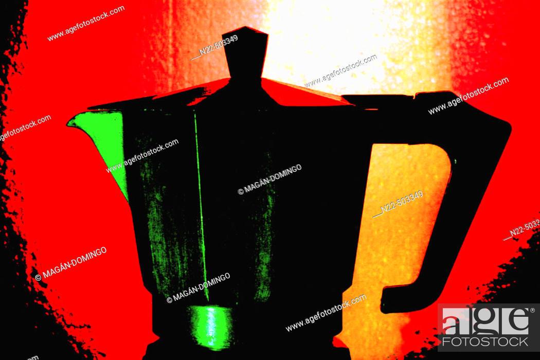 Stock Photo: Coffee pot.