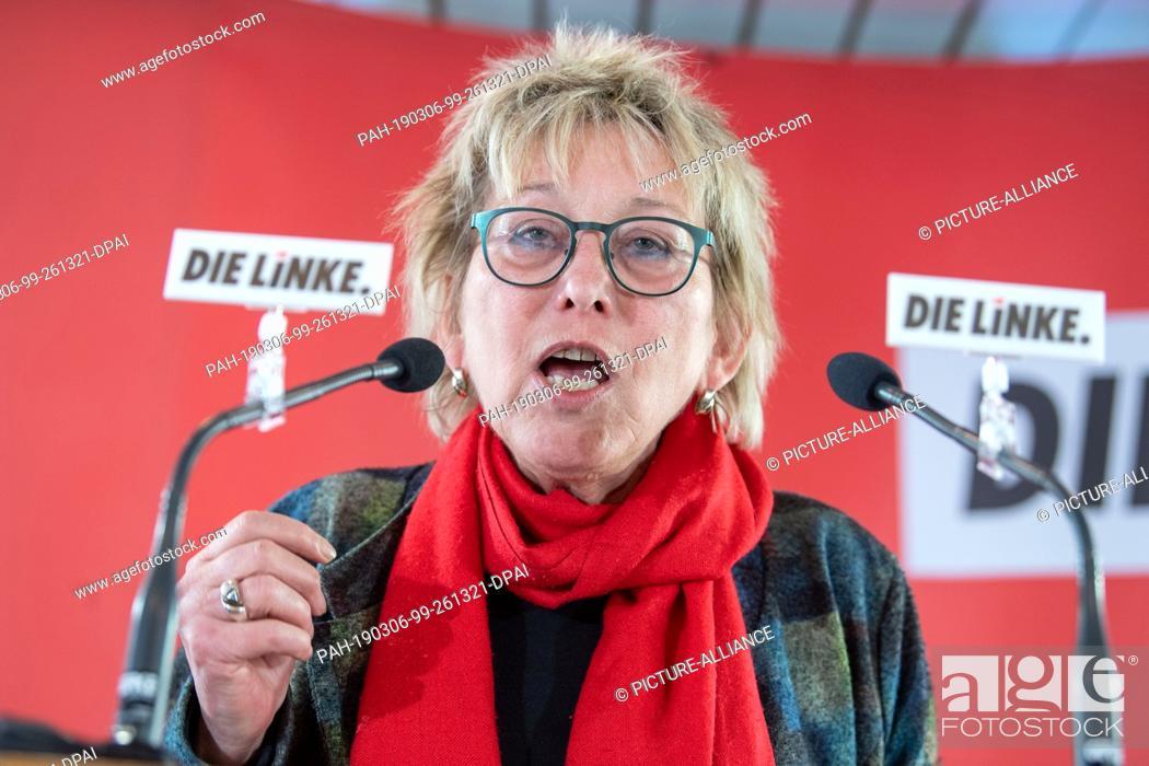 Imagen: 06 March 2019, Bavaria, Passau: Eva Bulling-Schröter (Die Linke), regional chairwoman of the left in Bavaria, speaks at the political Ash Wednesday of the left.