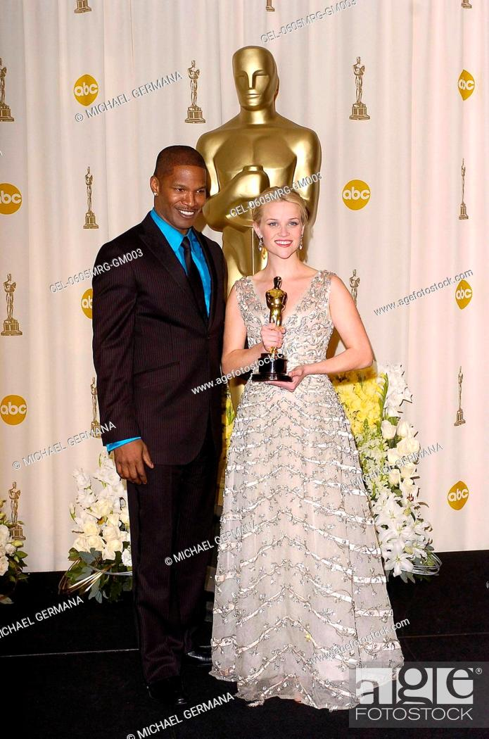 Jamie Foxx Reese Witherspoon In The Press Room For OSCARS 78th