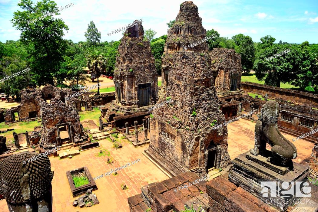 Stock Photo: Pre Rup temple, Angkor area, Siem Reap, Cambodia.