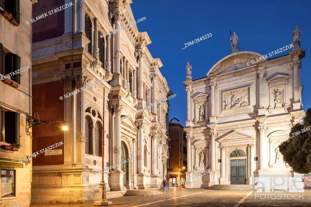 Stock Photo: Scuola Grande di San Rocco, sestiere of San Polo, Venice, Italy.