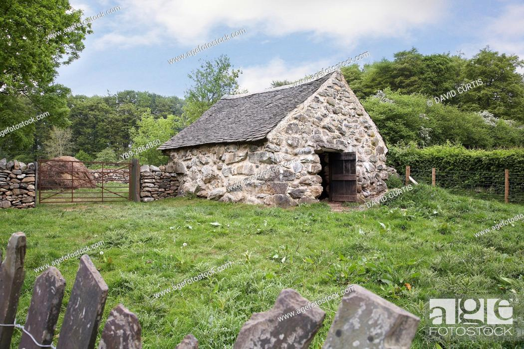 Stock Photo: Farm house outbuilding at st fagans museum of welsh life, Wales, Uk.