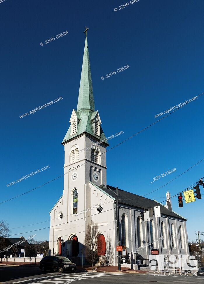 Stock Photo: St George's Episcopal Church, Fredericksburg, Virginia, USA.