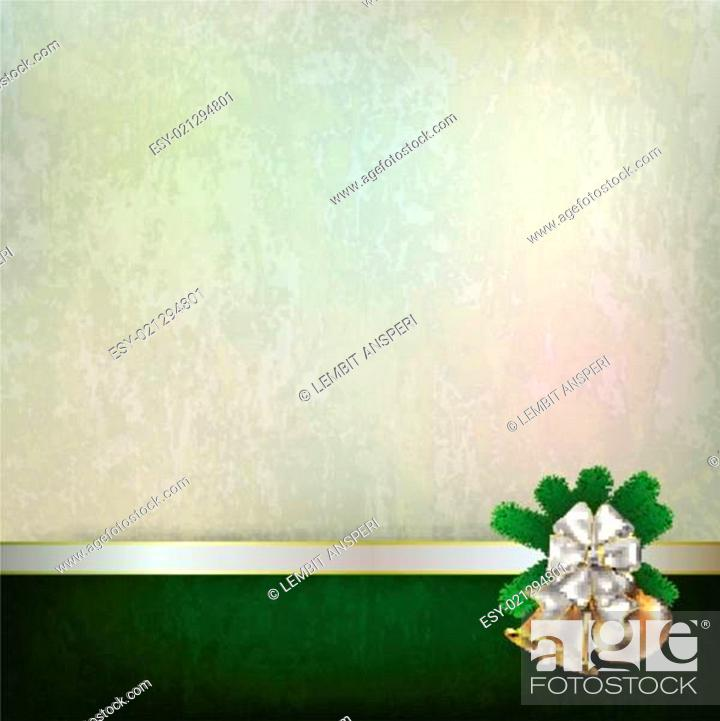 Stock Vector: Abstract grunge background with Christmas bells.