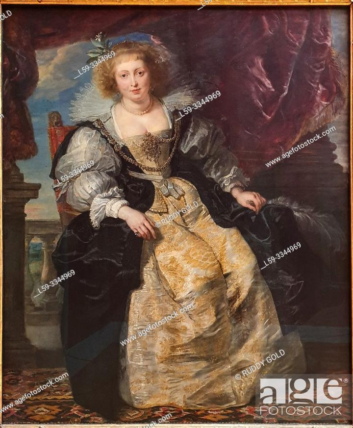Stock Photo: 'Helene Fourment 'in Her Bridal Gown', 1630/31, by Peter Paul Rubens (1577-1640).