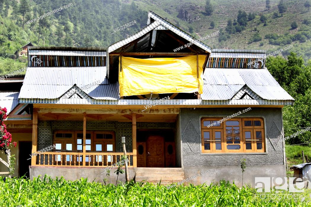 India Baba Nagri 23 06 2010 A Modern Muslim Farmhouse In Kashmir Stock Photo Picture And Rights Managed Image Pic Vig 2255224 Agefotostock