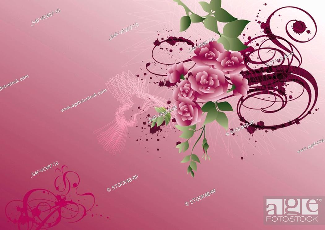 Stock Photo: Illustration of a flower bouquet.
