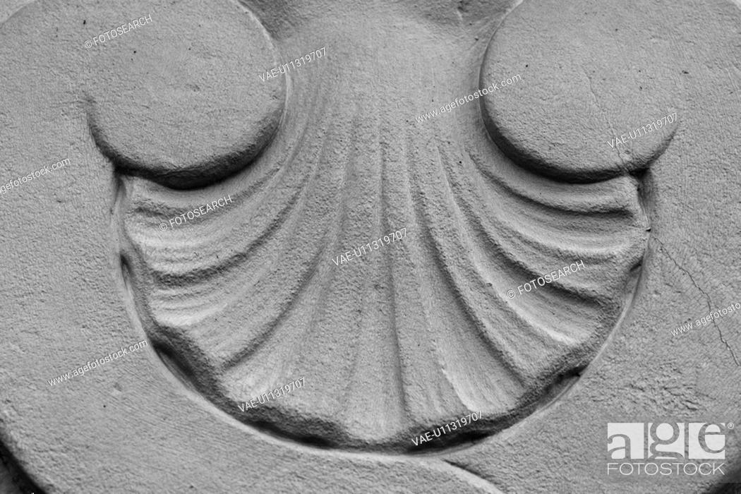 Stock Photo: monument, structure, embossed, stone, appearance, floral.
