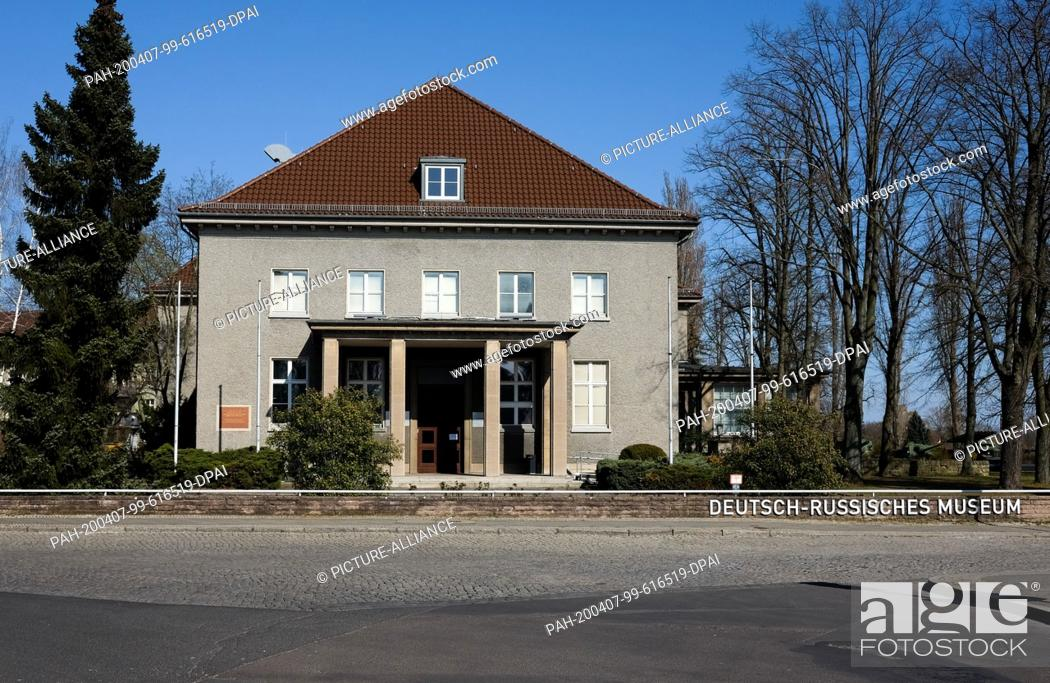 Stock Photo: 05 April 2020, Berlin: The German-Russian Museum in the Waldowallee in Berlin Karlshorst. On 8 May 1945, the capitulation of the German Wehrmacht in.