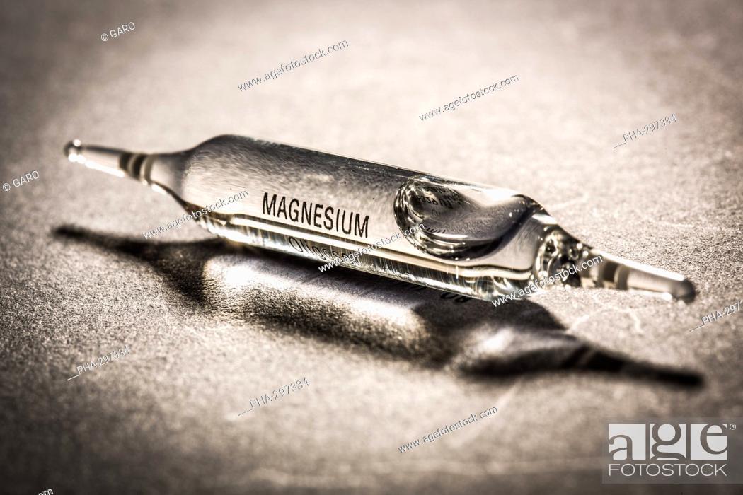 Imagen: Magnesium glass ampoules.