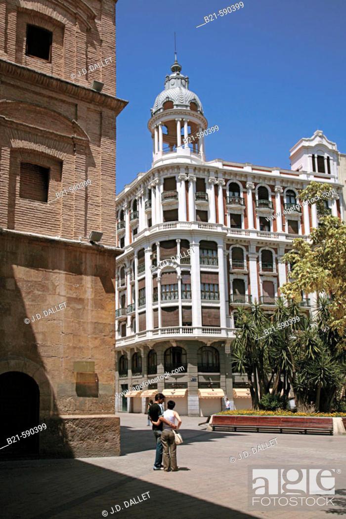 Stock Photo: 'Plaza Santo Domingo' at Murcia. Murcia. Spain.