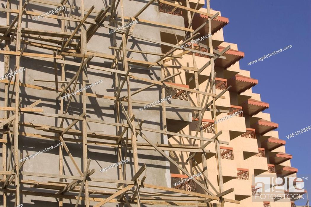 Stock Photo: Balcony, Building Exterior, Building Structure, Construction, Construction Frame.