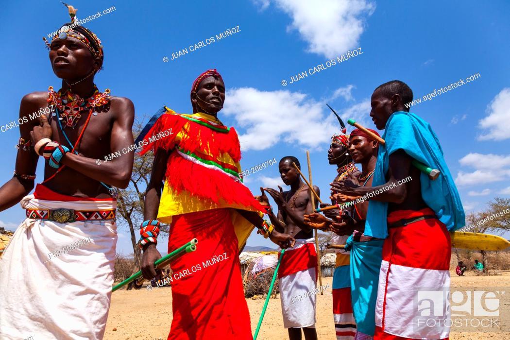 Stock Photo: Samburu people, Samburu National Park, Kenya, Africa.