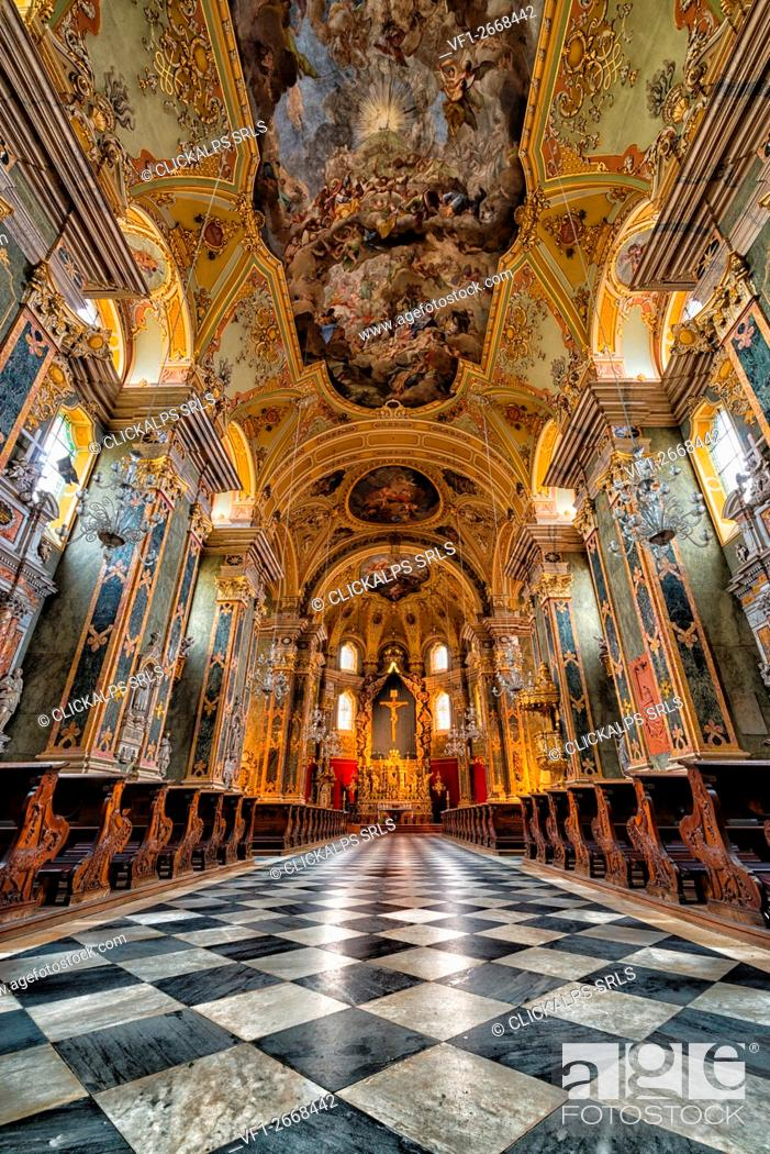 Stock Photo: Bressanone cathedral, Brixen, South Tyrol, Italy.