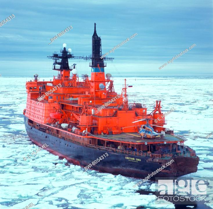 Imagen: nuclear icebreaker Sovetskiy Soyuz, in the frozen sea nearSewernaja Smelja, Antarctica.