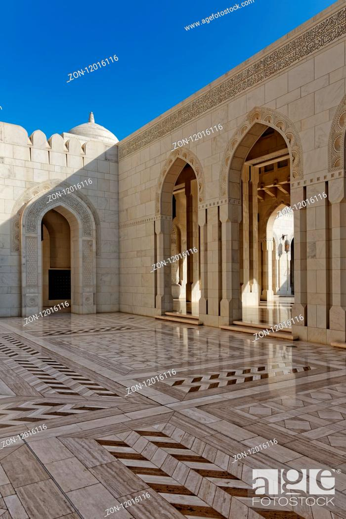 Stock Photo: Sultan Qaboos Grand Mosque. Sultanate of Oman. Saltanat ?Um?n. Sultanat Oman. Oman.