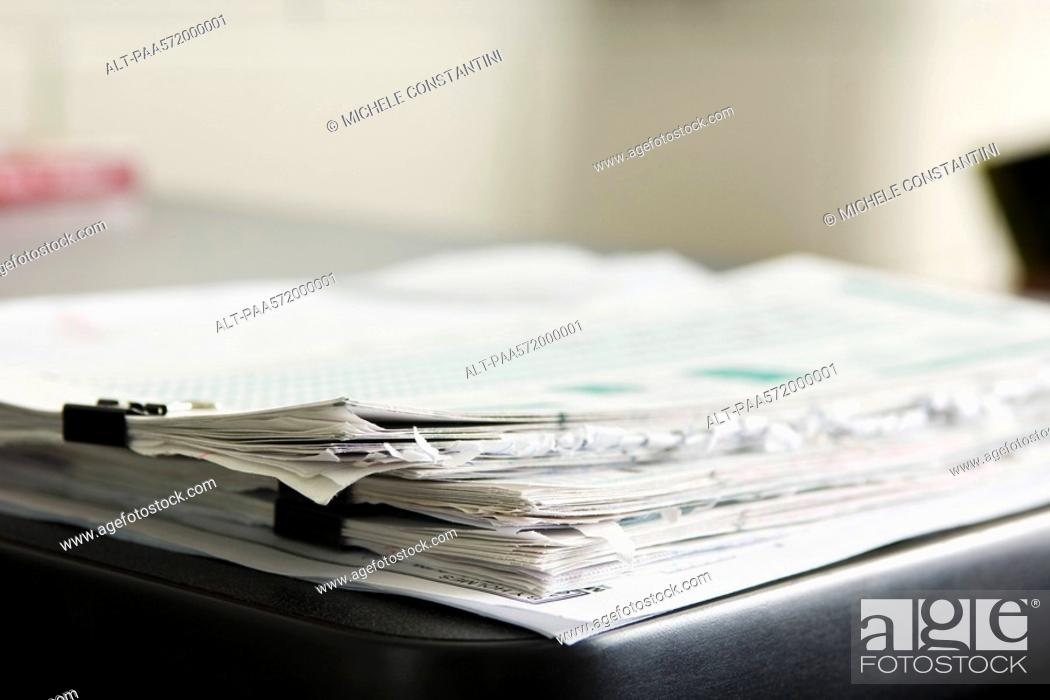 Stock Photo: Stack of documents.