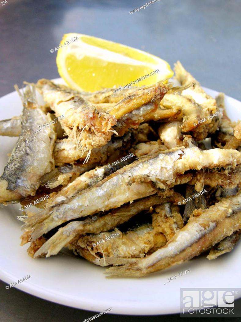 Stock Photo: Fried fish.