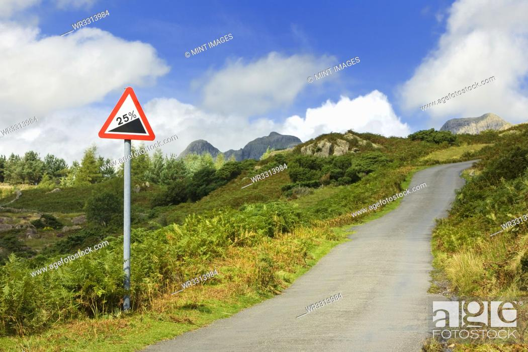Stock Photo: Road Going Up Hill.