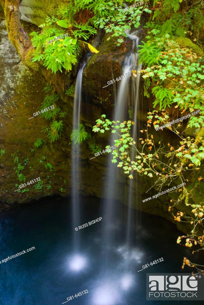 Stock Photo: Cascade on the Umpqua River near Toketee Falls, Umpqua National Forest, Oregon, USA.