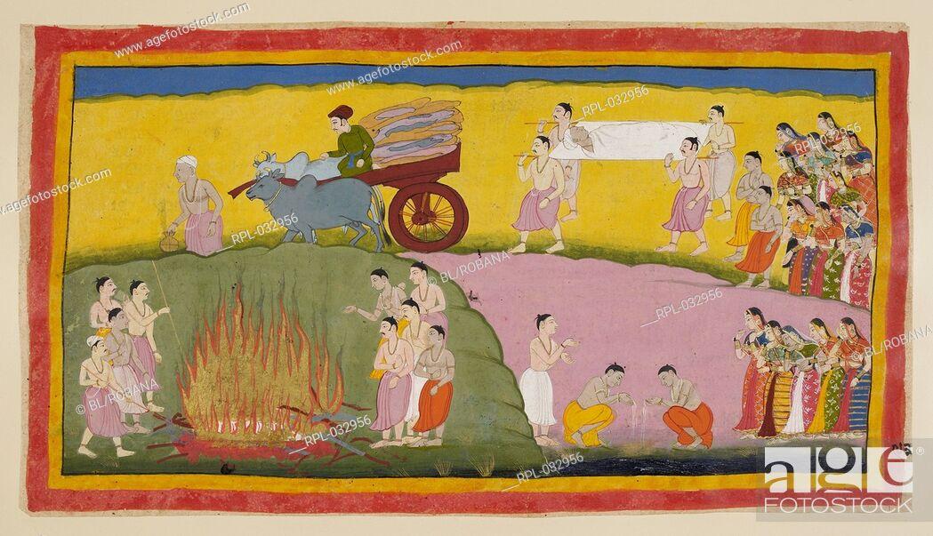Stock Photo: Scene from the Ramayana, Image taken from Ramayana, Ayodhya Kanda.