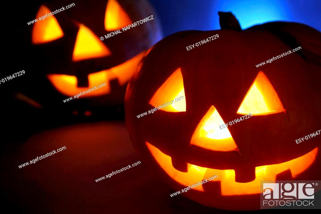 Stock Photo: Halloween pumpkin 4.