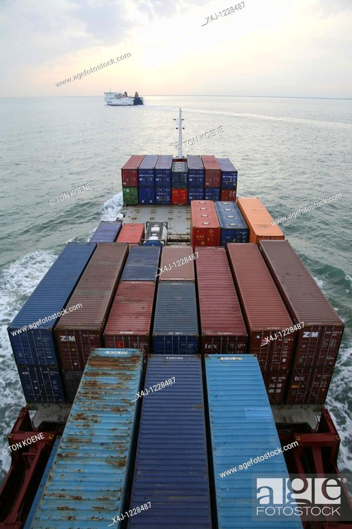 Stock Photo: container transport in Holland.