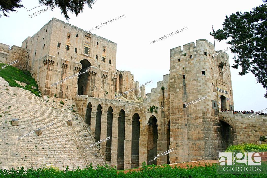 Stock Photo: Syria - Citadel of Aleppo.