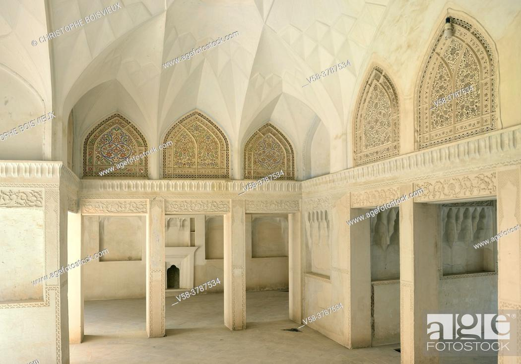 Stock Photo: Iran, Kashan, Abbassian House (19th C).