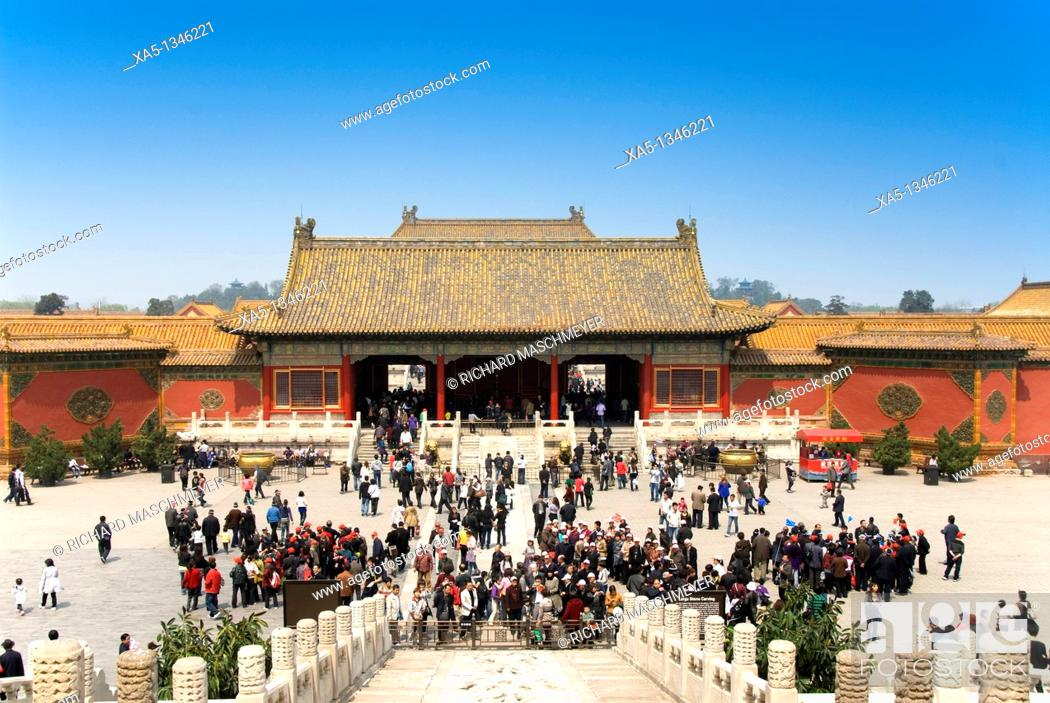 Stock Photo: Hall of Heavenly Purity, Forbbiden City, Beijing, China.